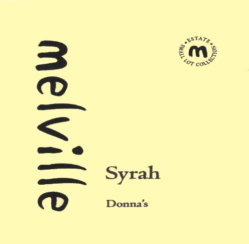 Melville Donna's Syrah 2008 Front Label