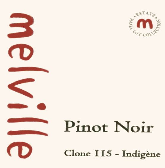 Melville Clone 115 Indigene Pinot Noir 2008 Front Label