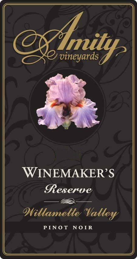 Amity Winemaker's Reserve Pinot Noir 2008 Front Label