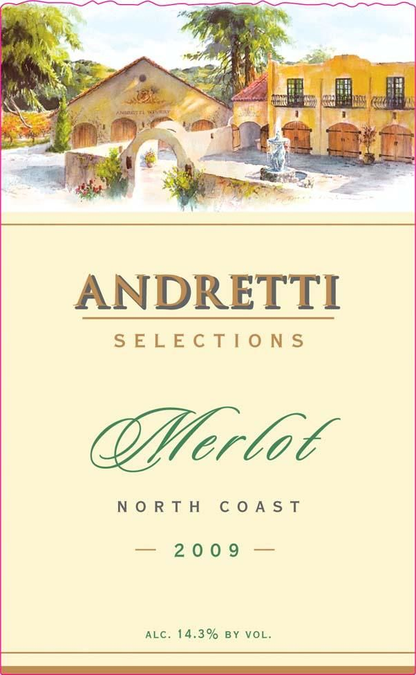 Andretti Selection Series Merlot 2009 Front Label