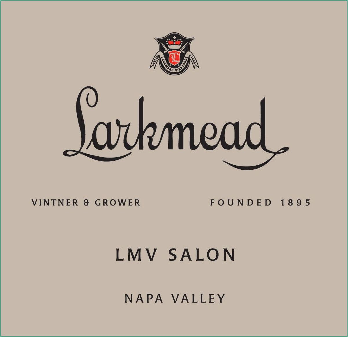 Larkmead LMV Salon 2009 Front Label