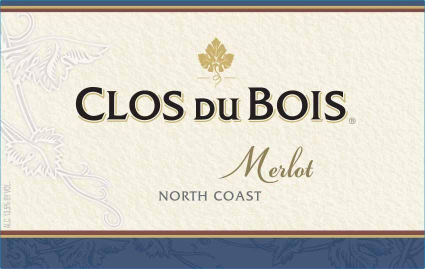 Clos du Bois North Coast Merlot 2009 Front Label