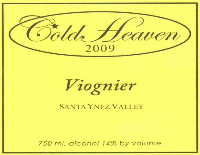 Cold Heaven Viognier 2009 Front Label