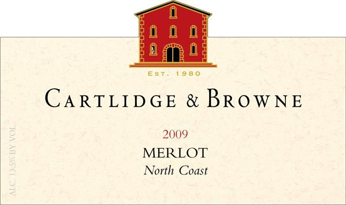 Cartlidge & Browne Merlot 2009 Front Label
