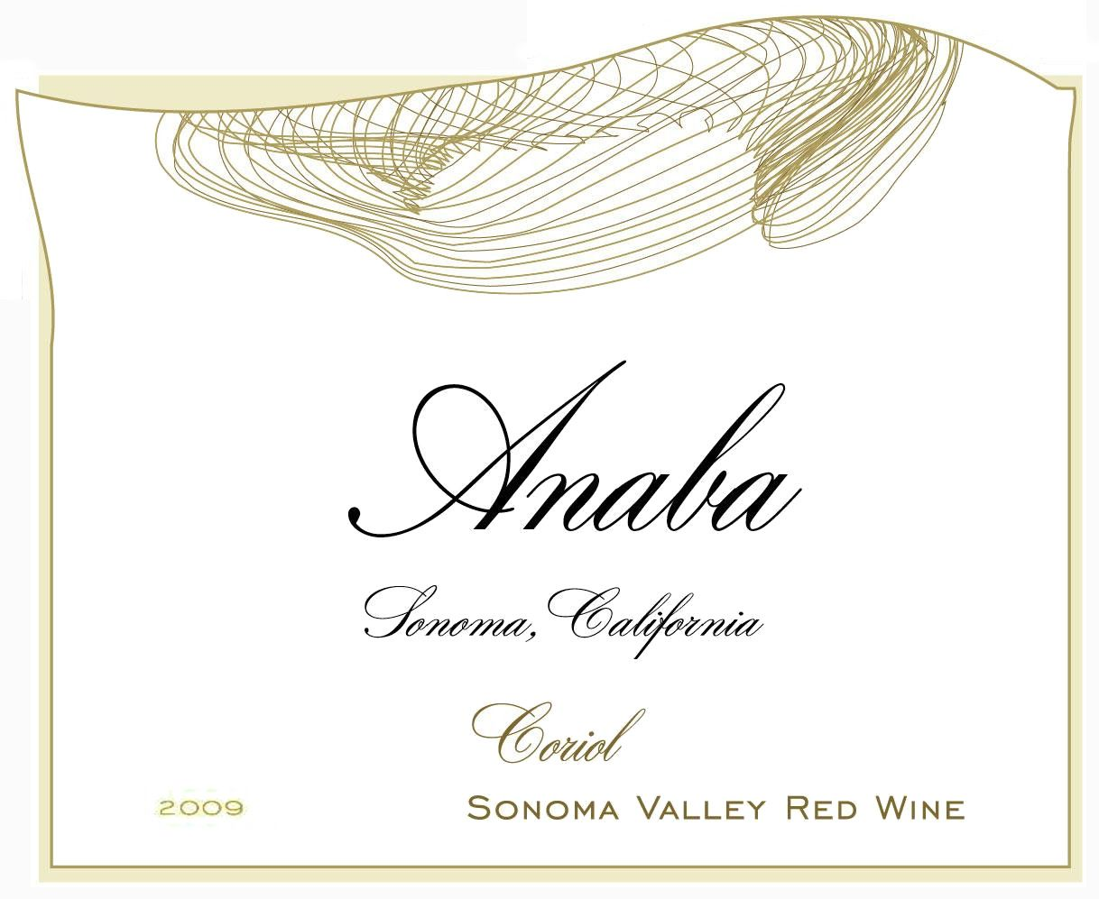 Anaba Coriol Red 2009 Front Label