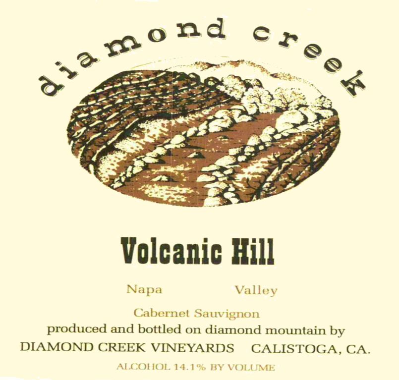 Diamond Creek Volcanic Hill Cabernet Sauvignon 2009 Front Label