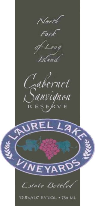 Laurel Lake Reserve Cabernet Sauvignon 2010 Front Label