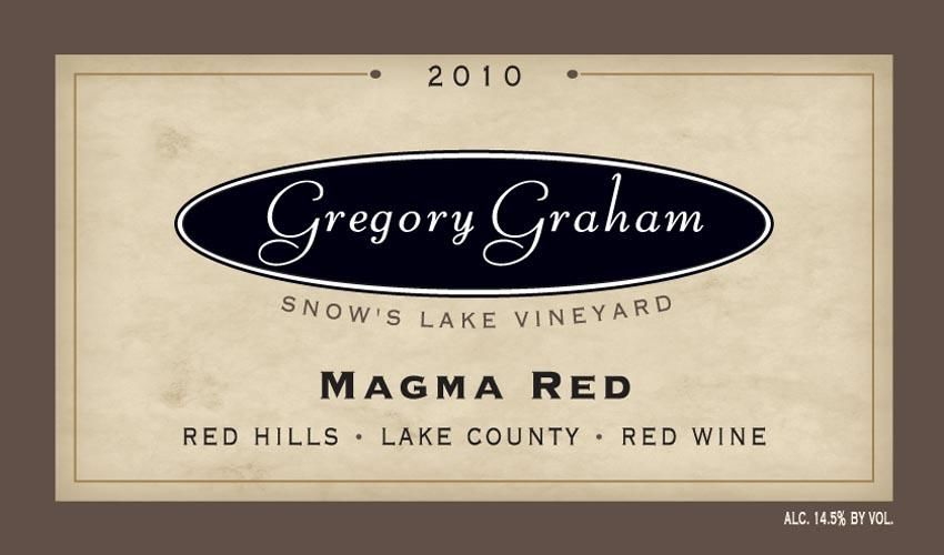 Gregory Graham Magma Red 2010 Front Label