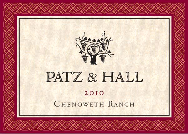 Patz & Hall Chenoweth Ranch Pinot Noir 2010 Front Label