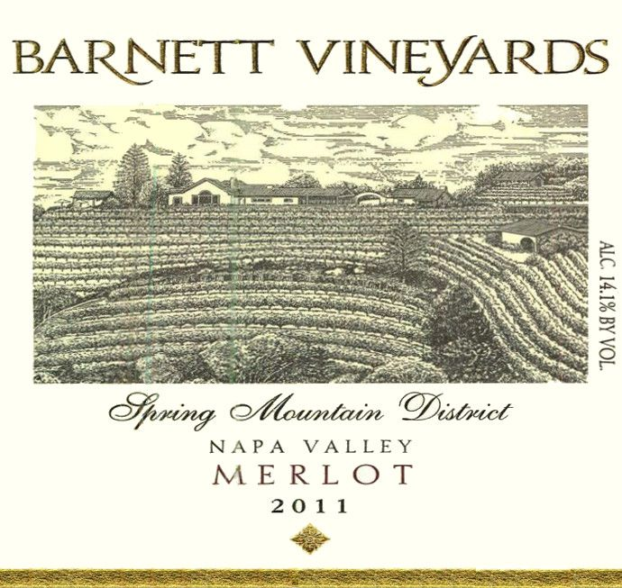 Barnett Vineyards Merlot 2011 Front Label