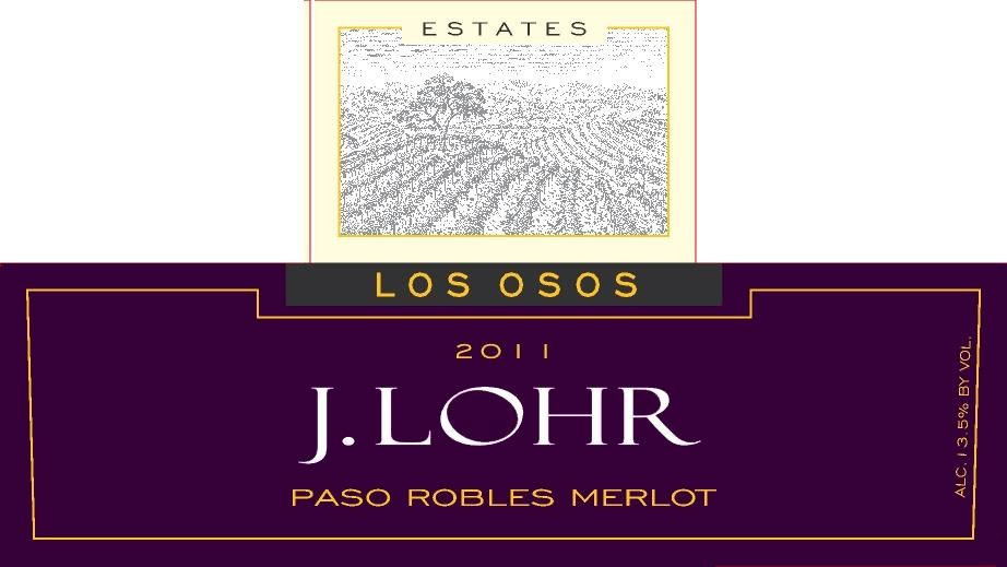 J. Lohr Vineyards & Wines Los Osos Merlot 2011 Front Label