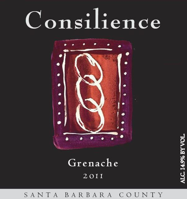 Consilience Grenache 2011 Front Label