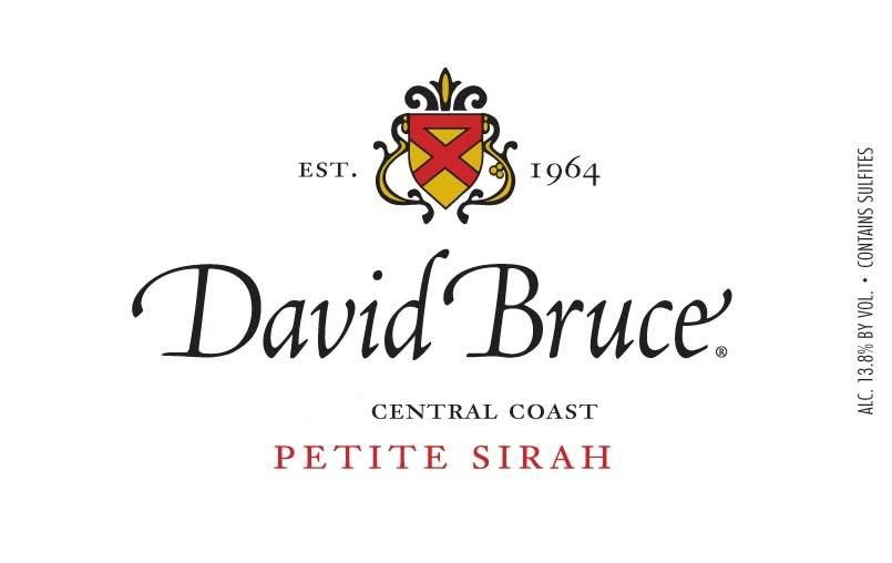 David Bruce Central Coast Petite Syrah 2011 Front Label