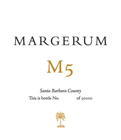 Margerum M5 Red 2011 Front Label