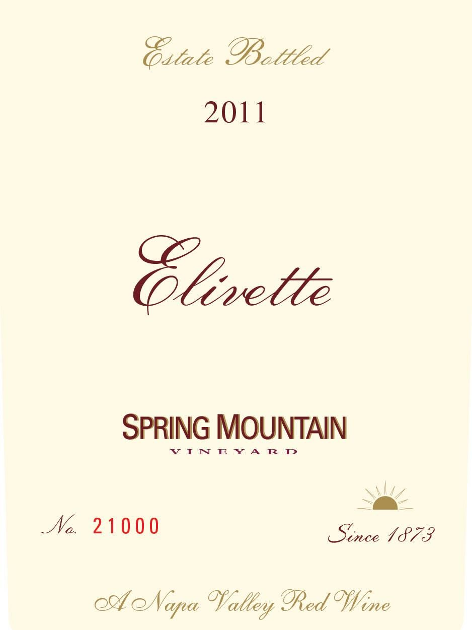 Spring Mountain Vineyard Elivette 2011 Front Label