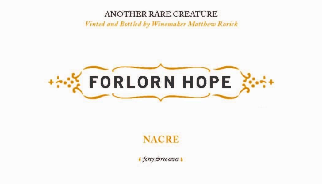 Forlorn Hope Nacre Semillon 2011 Front Label