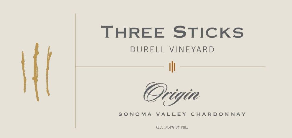 Three Sticks Durell Vineyard Origin Chardonnay 2011 Front Label