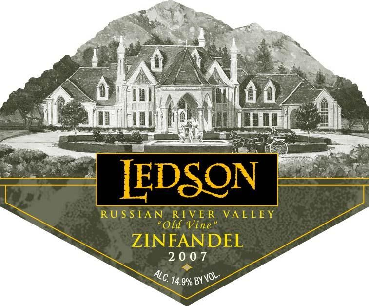 Ledson Winery & Vineyards Old Vine Zinfandel 2007 Front Label