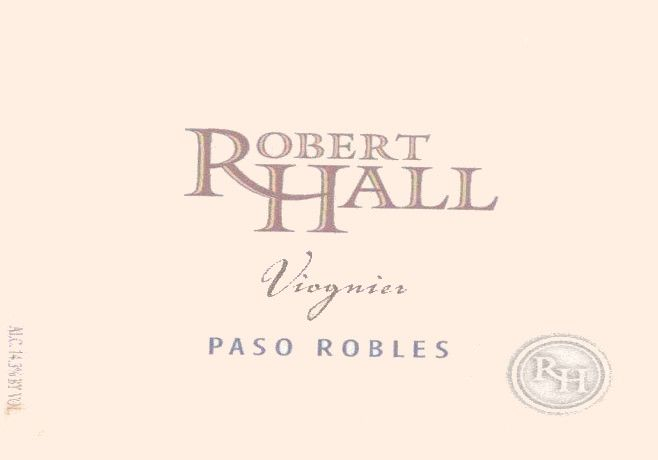 Robert Hall Viognier 2012 Front Label