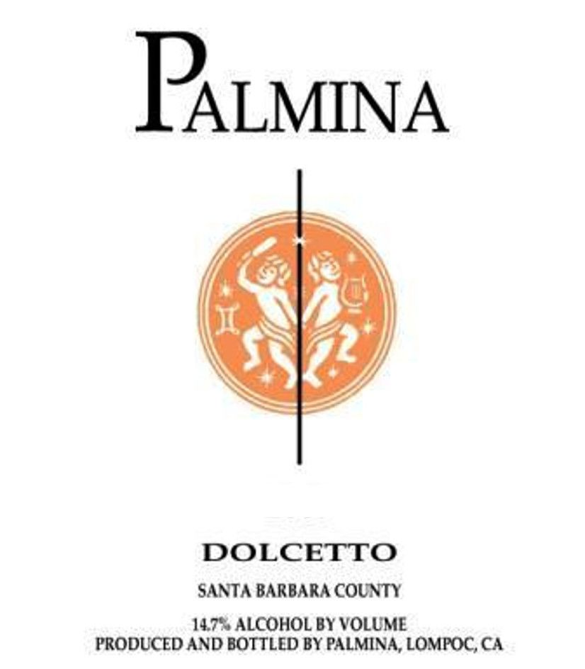 Palmina Dolcetto 2012 Front Label