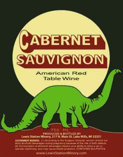 Lewis Station Winery Cabernet Sauvignon Front Label