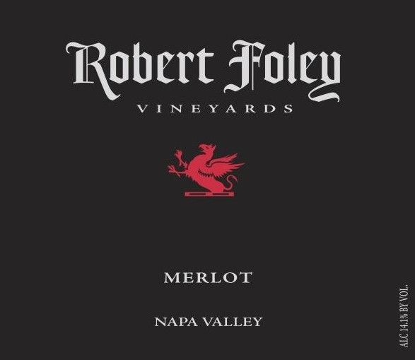 Robert Foley Vineyards Merlot 2012 Front Label