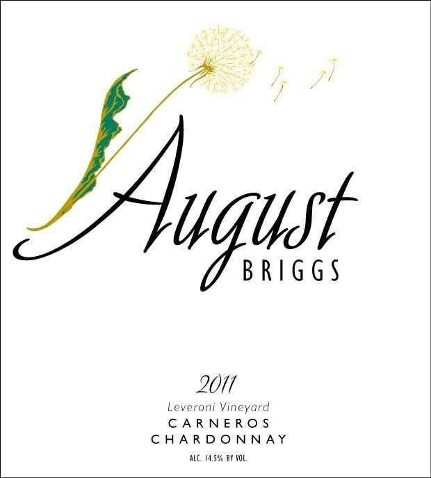 August Briggs Leveroni Vineyard Chardonnay 2012 Front Label