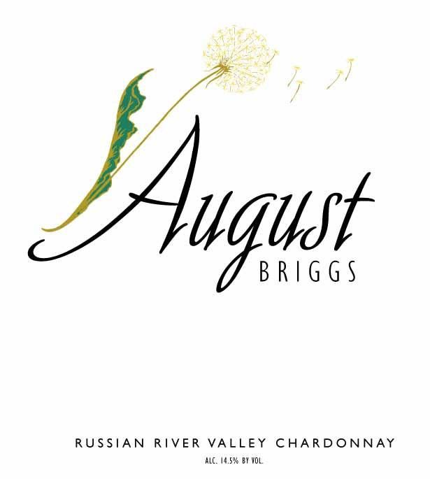 August Briggs Russian River Valley Chardonnay 2012 Front Label