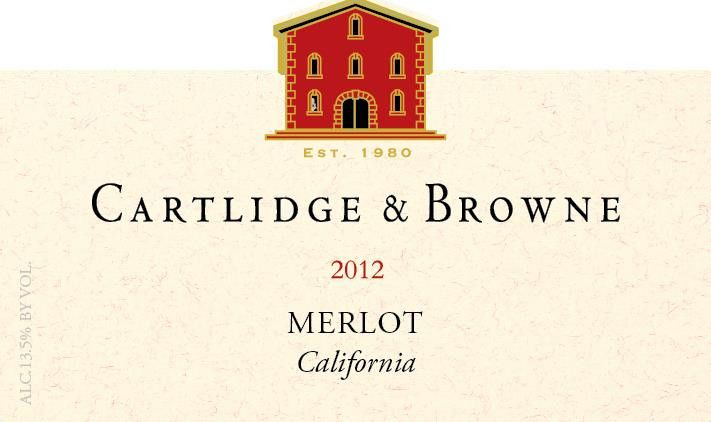 Cartlidge & Browne Merlot 2012 Front Label