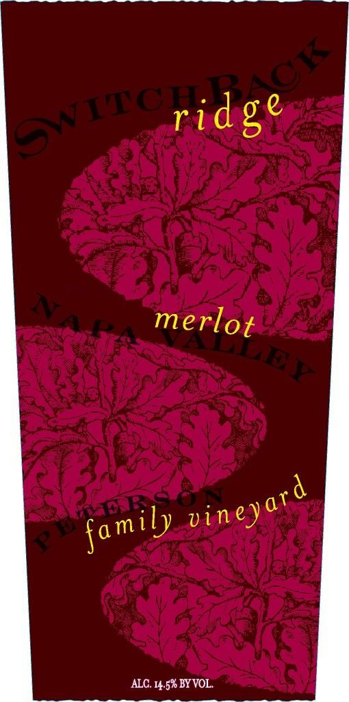 Switchback Ridge Peterson Family Vineyard Merlot 2012 Front Label