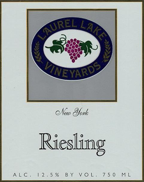 Laurel Lake Reisling 2013 Front Label