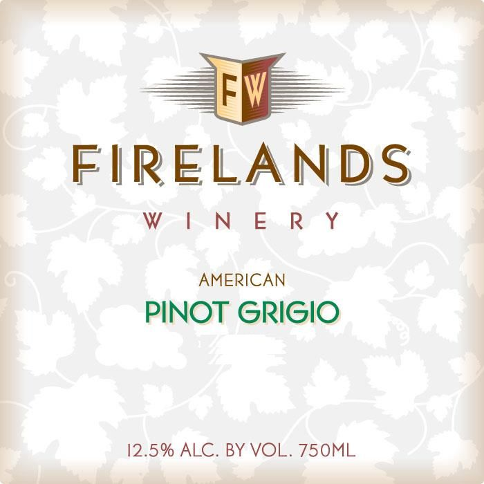Firelands Pinot Grigio 2013 Front Label