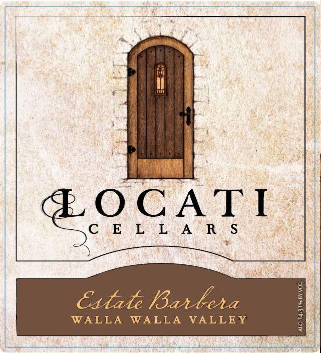 Locati Cellars Estate Barbera 2013 Front Label