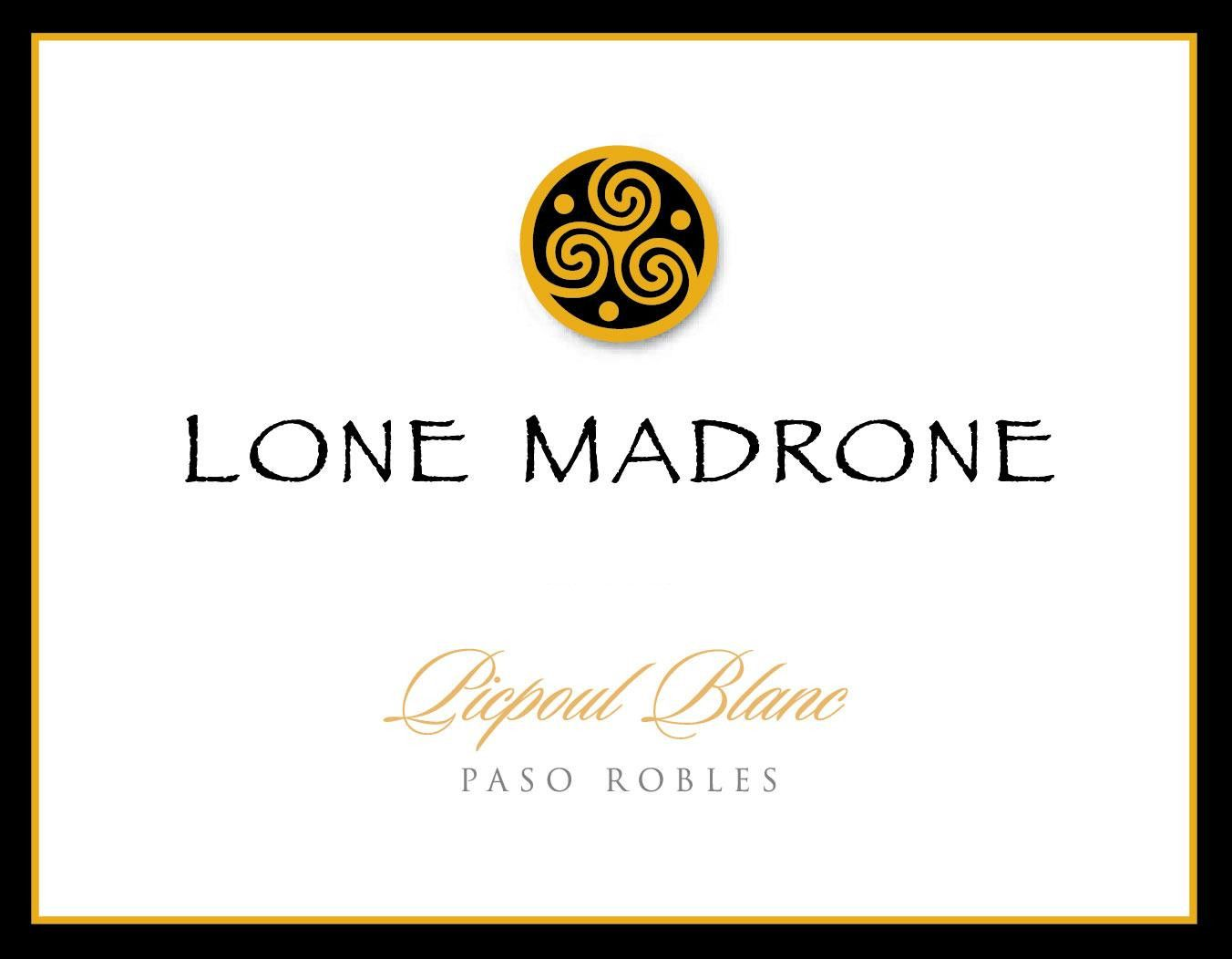 Lone Madrone Picpoul Blanc 2014 Front Label