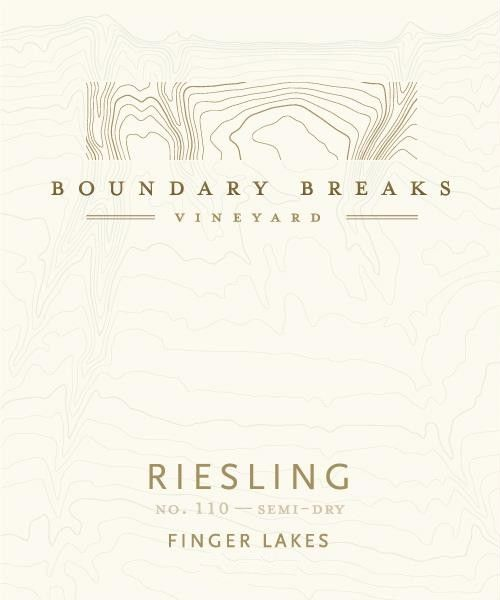 Boundary Breaks No.110 Semi-Dry Riesling 2013 Front Label