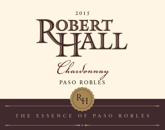 Robert Hall Chardonnay 2015 Front Label