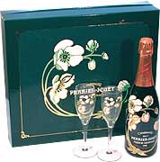 Perrier-Jouet Belle Epoque Glass Set 1995 Front Label