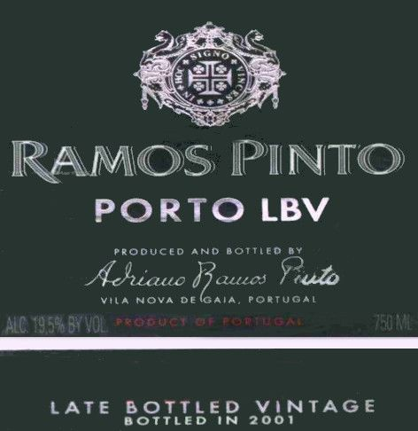 Ramos Pinto Late Bottled Vintage Port 1998 Front Label