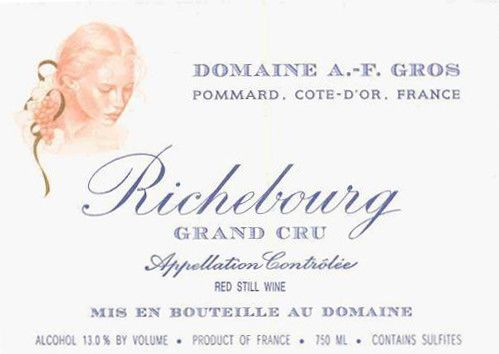 Domaine A.F. Gros Richebourg Grand Cru 2004 Front Label