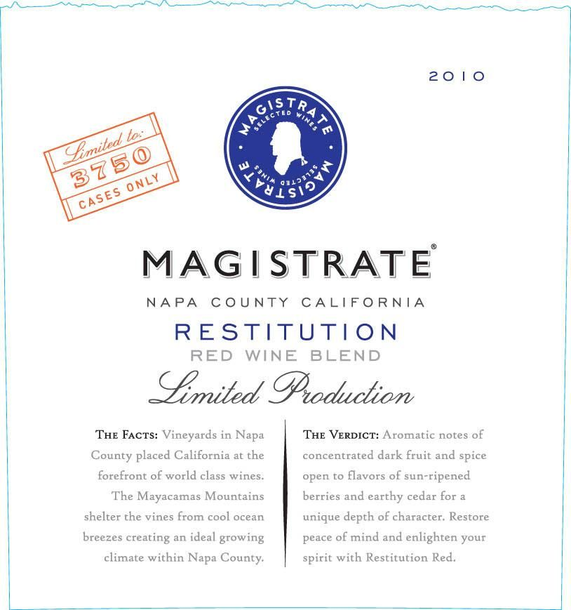 Magistrate Limited Production Restitution 2010 Front Label