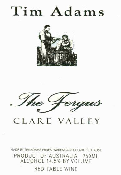Tim Adams Clare Valley The Fergus Grenache 2007 Front Label