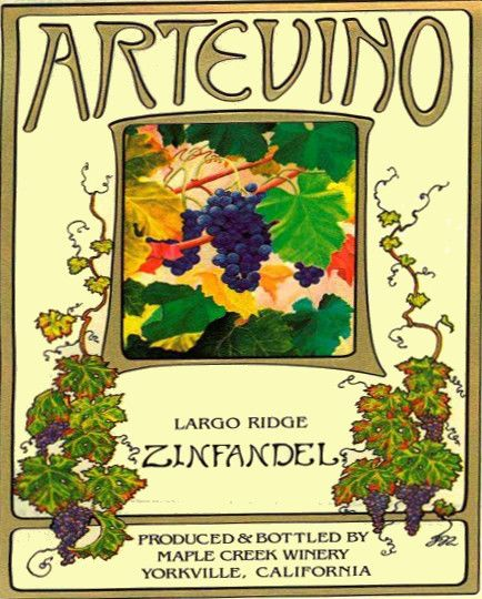 Maple Creek Winery Artevino Largo Ridge Zinfandel 2010 Front Label