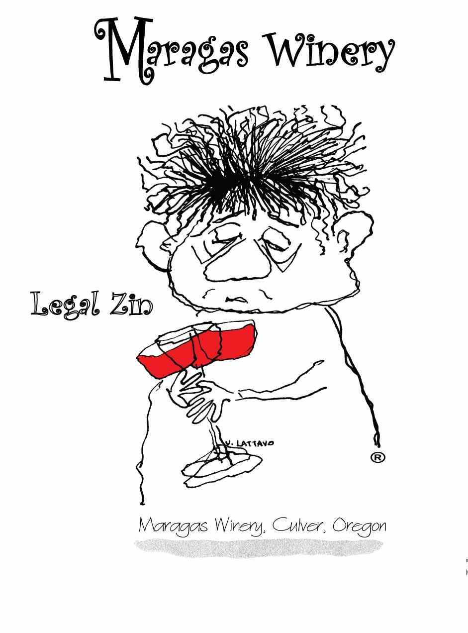 Maragas Winery Legal Zin 2010 Front Label