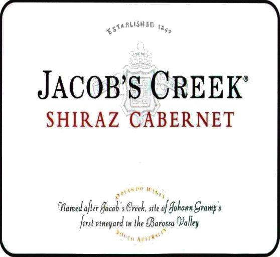 Jacob's Creek Classic Shiraz Cabernet Sauvignon 2007 Front Label