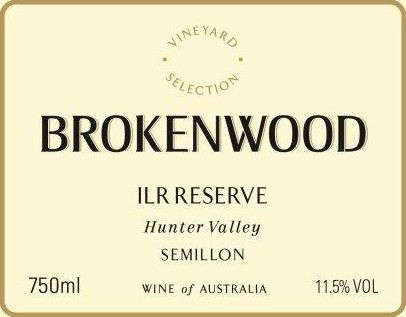 Brokenwood ILR Reserve Semillon 2008 Front Label