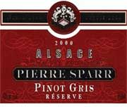 Pierre Sparr Reserve Pinot Gris 2000 Front Label