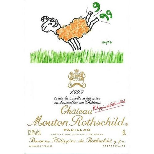 Chateau Mouton Rothschild  1999 Front Label
