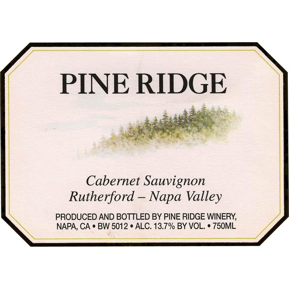 Pine Ridge Rutherford Cabernet Sauvignon 1999 Front Label