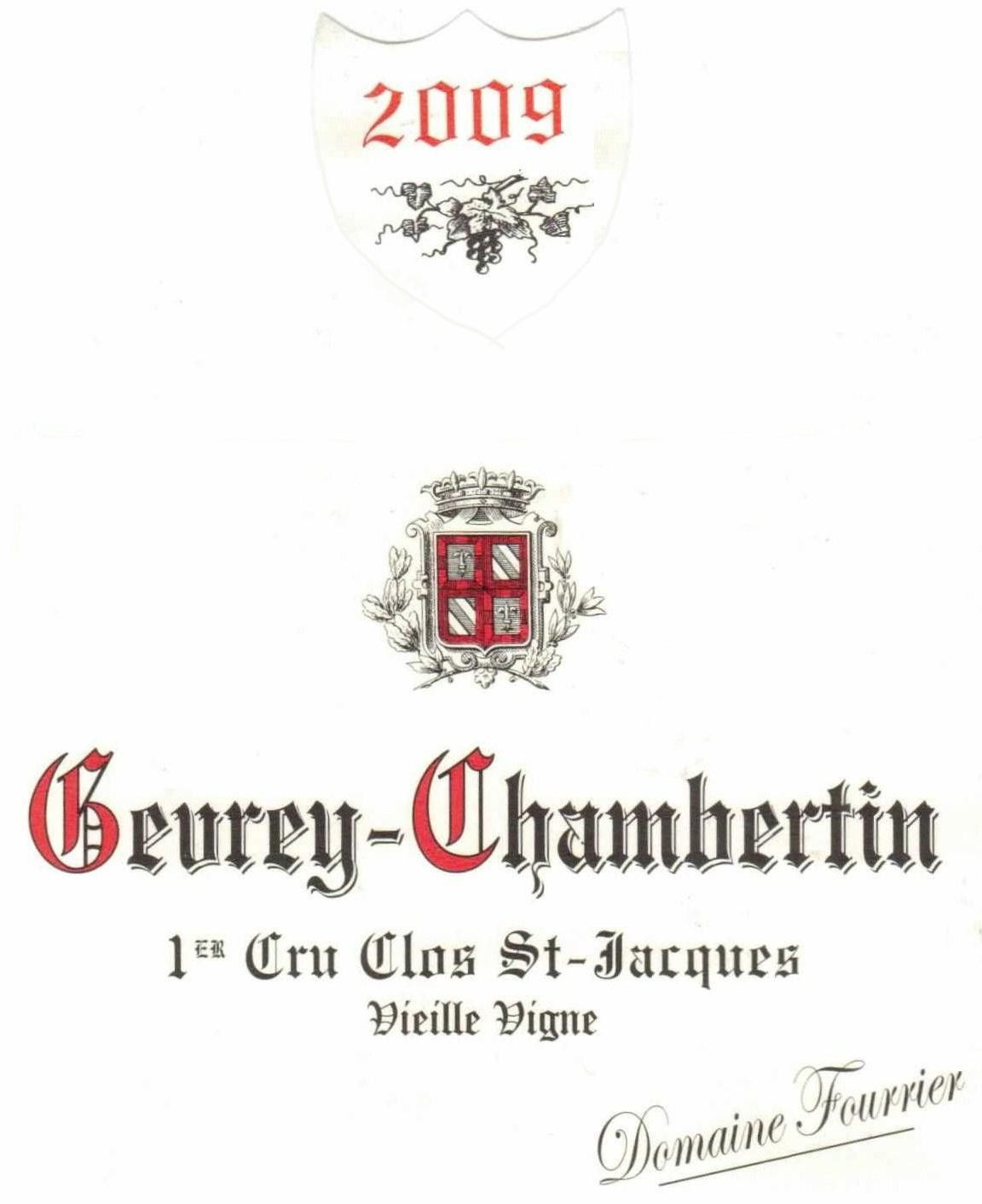 Domaine Fourrier Gevrey-Chambertin Clos St-Jacques 2009 Front Label