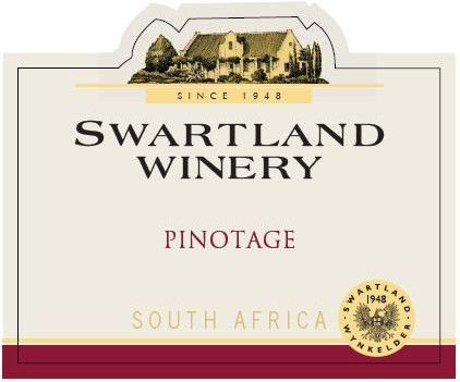 Swartland Pinotage 2010 Front Label